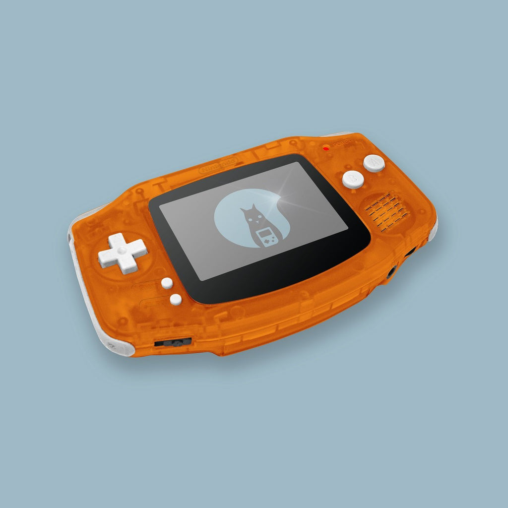 Transparent Orange Game Boy Advance Shell