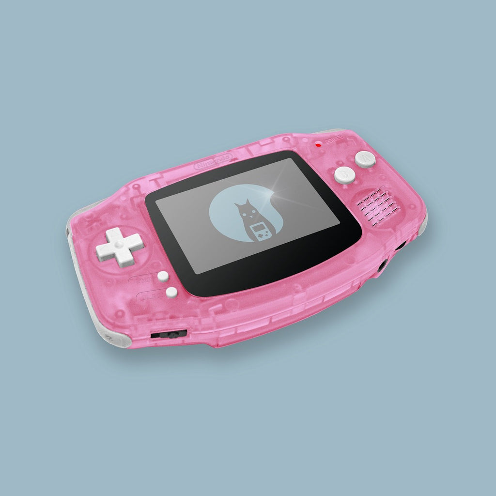Transparent Pink Game Boy Advance Shell