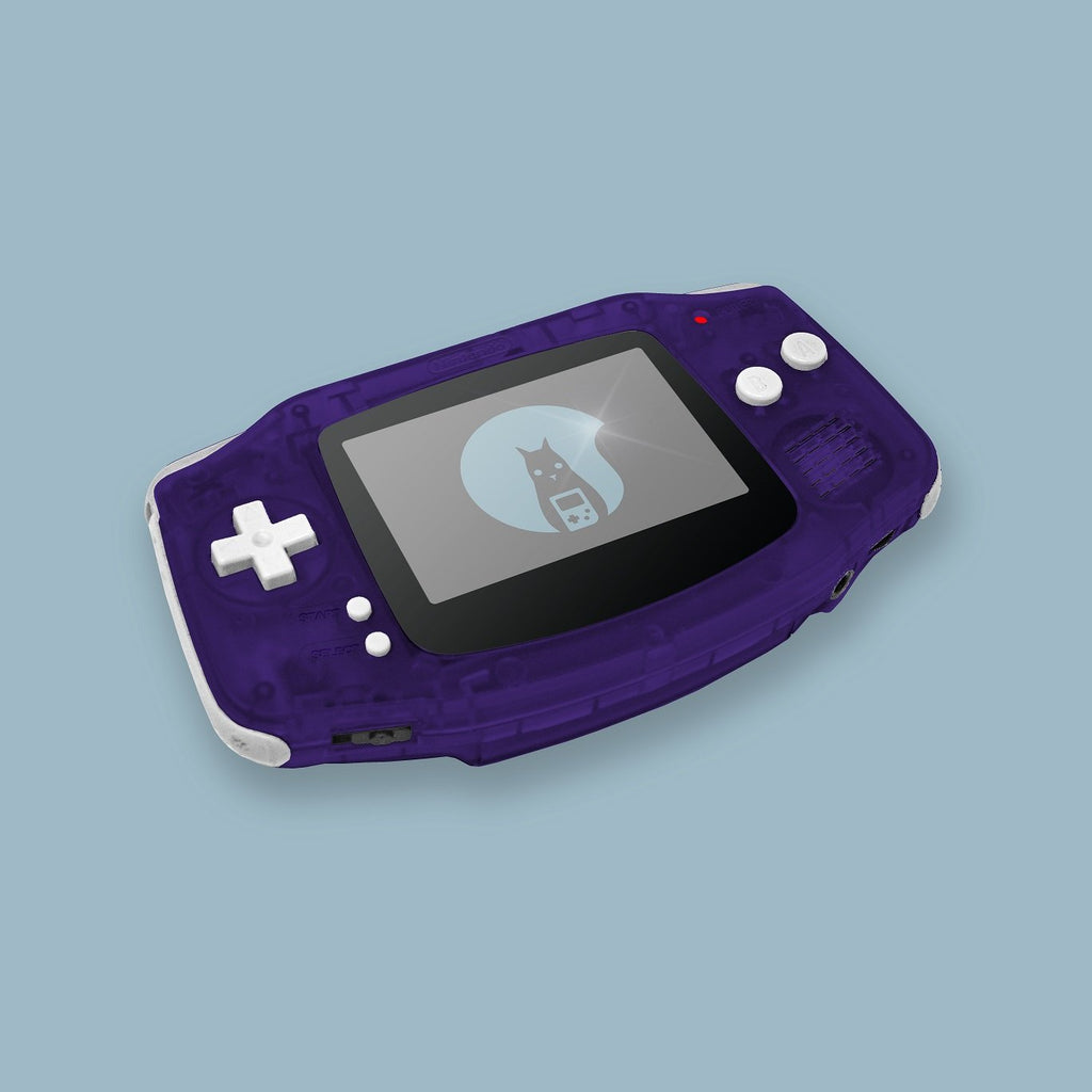 Transparent Purple Game Boy Advance Shell