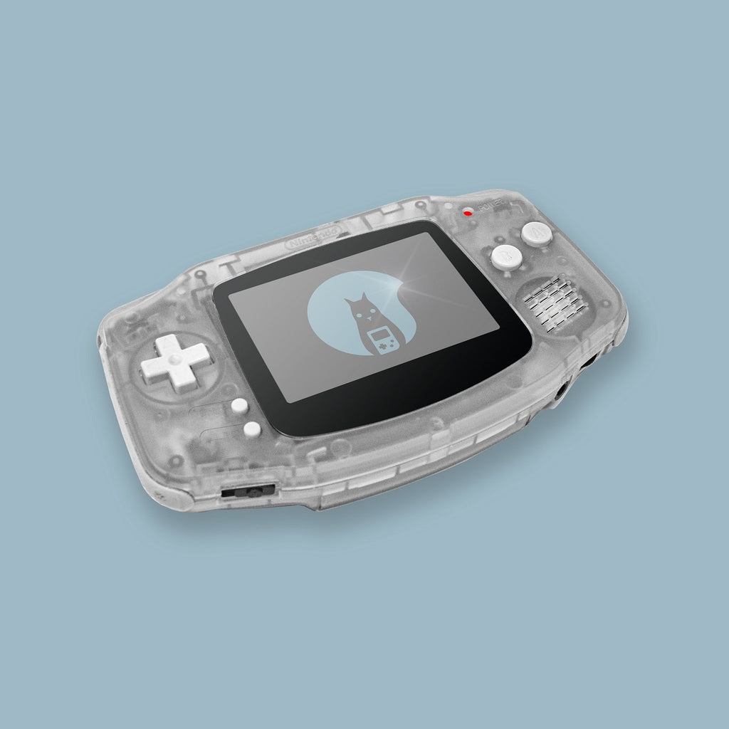 Transparent White Game Boy Advance Shell