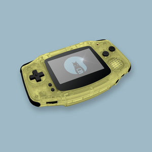 Transparent Gold Yellow Game Boy Advance Shell