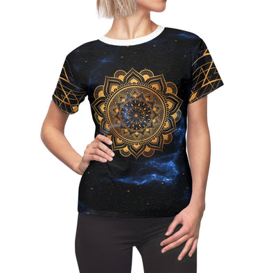 ♥ golden mandala in black tee (XS, S, M, L, XL, 2XL) - greatspiritualgifts.com