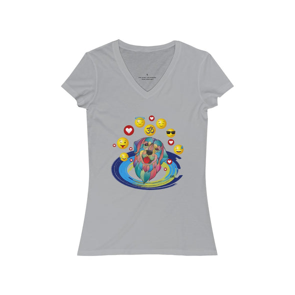 ♥ my best friend - ॐ om dog women's v-neck tee (S, M, L, XL, 2XL) - greatspiritualgifts.com