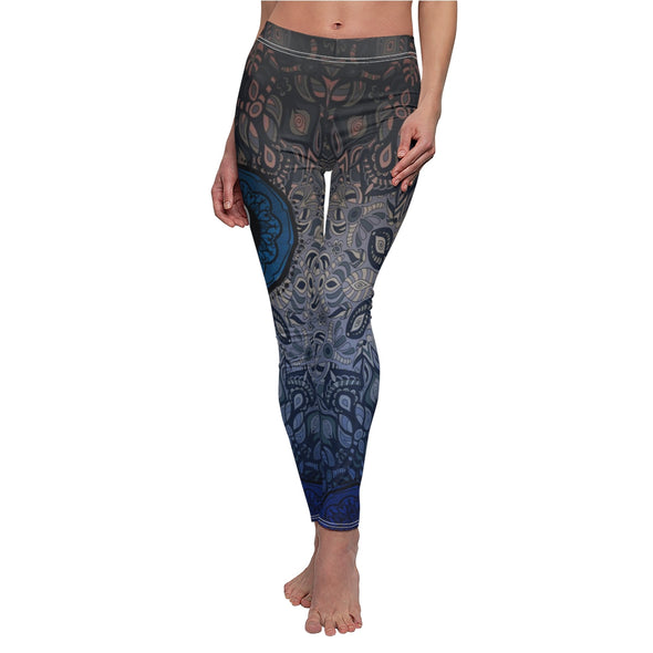 Blue Yin Yang Mandala Leggings | greatspiritualgifts.com