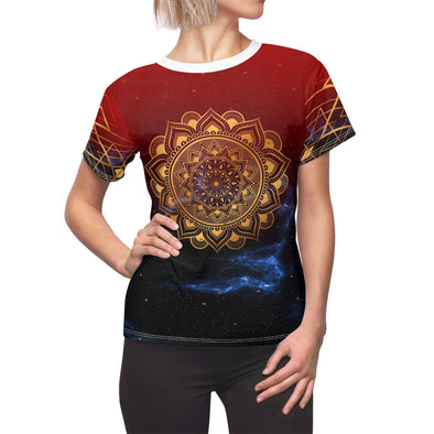 ♥ golden mandala in red Tee (XS, S, M, L, XL, 2XL) - greatspiritualgifts.com