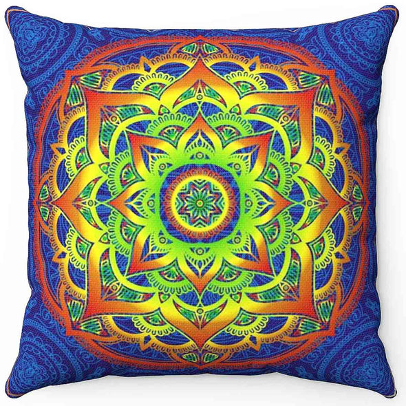 Mandala Hand Pillow | greatspiritualgifts.com
