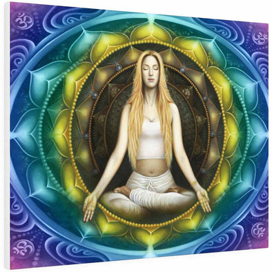 Meditation Woman Color Mandala Wall Art | greatspiritualgifts.com