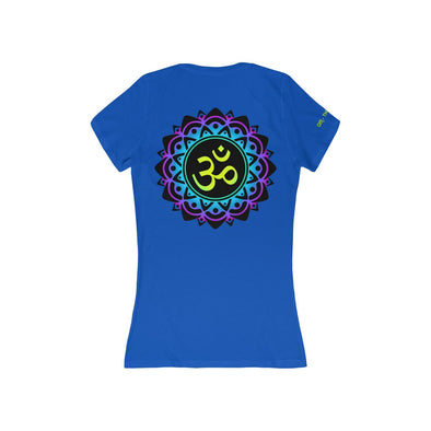 ♥ ॐ om mani padme hum jersey deep v-neck soft cotton tee (S, M, L, XL, 2X) - greatspiritualgifts.com