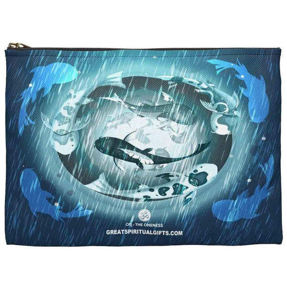 lucky koi fish accessory pouch back | greatspiritualgifts.com