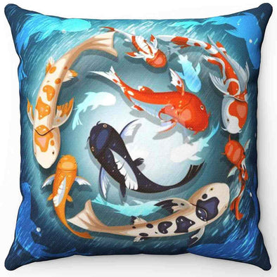 Lucky Koi Fish Pillow | greatspiritualgifts.com