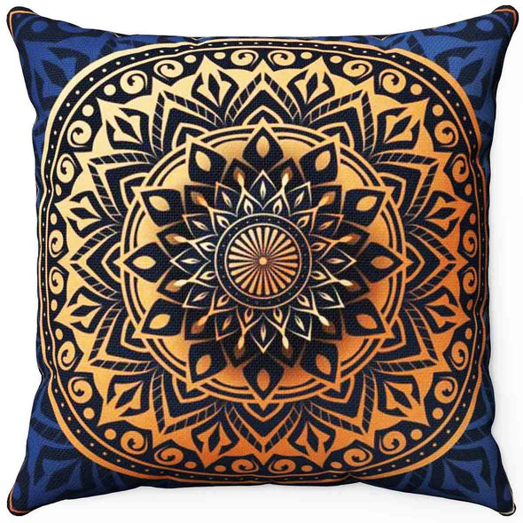 ॐ Mandala Pillow | greatspiritualgifts.com