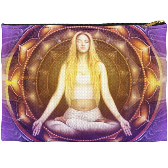 meditation art accessory pouch front | greatspiritualgifts.com