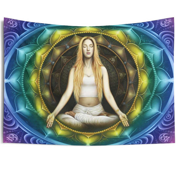 meditation woman wall art tapestries | greatspiritualgifts.com