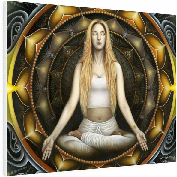 meditation woman wall art | greatspiritualgifts.com