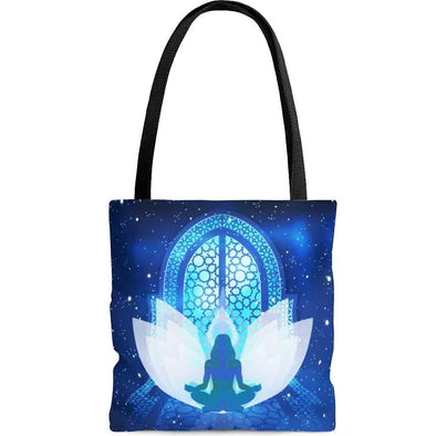 ॐ om namaste meditation tote bag back| greatspiritualgifts.com