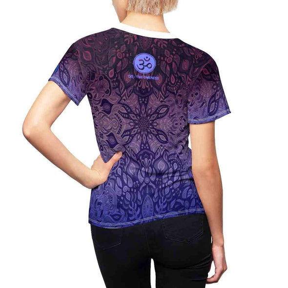 purple mandala yoga tee back | greatspiritualgifts.com