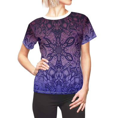 purple mandala yoga tee front | greatspiritualgifts.com