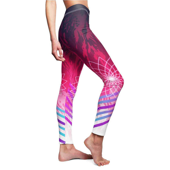 sexy hot pink mandala yoga Leggings side | greatspiritualgifts.com