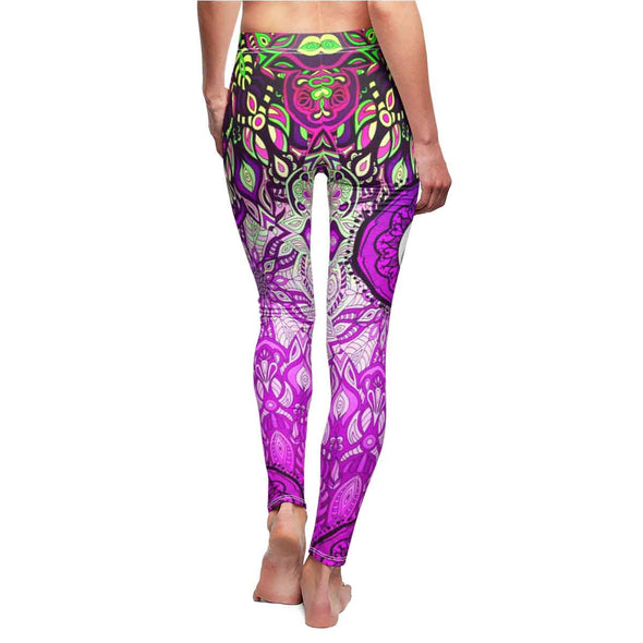sexy hot pink yin-yang mandala yoga Leggings back | greatspiritualgifts.com