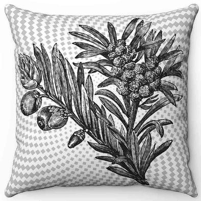 Vintage Plants Pillow| greatspiritualgifts.com