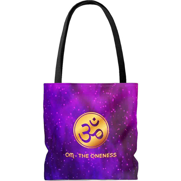 ॐ om world-map mandala tote bag back | greatspiritualgifts.com