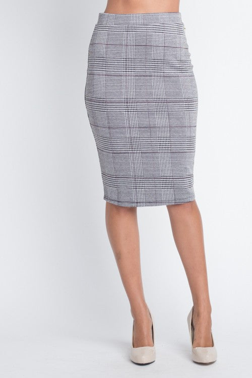 Perfect In Plaid Skirt (Gray)