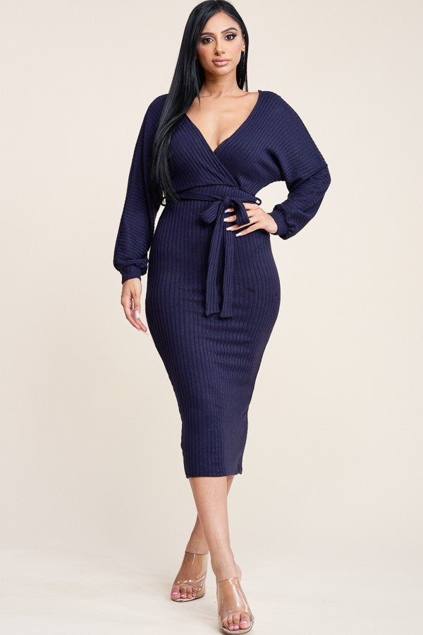 Always Around Dress (Navy)