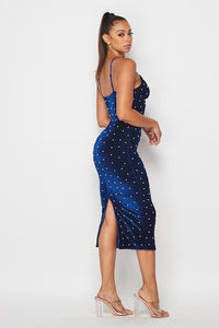 Velvet Dreams Dress (Navy)