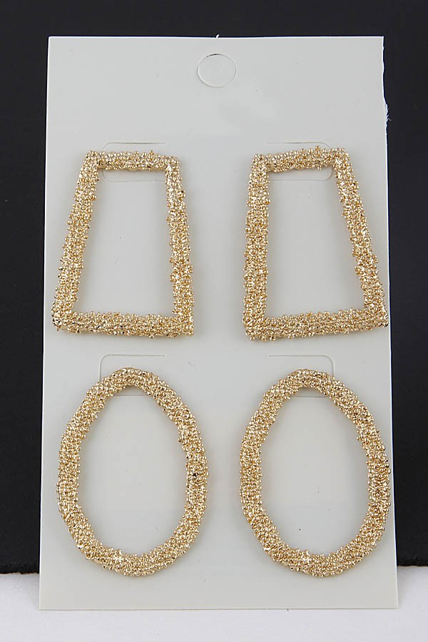 Bells & Hoops Earrings Set