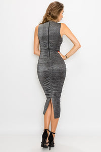 Taking the Lead Dress (Charcoal)