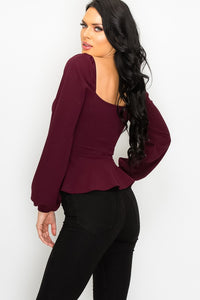 More Than Friends Top (Merlot)