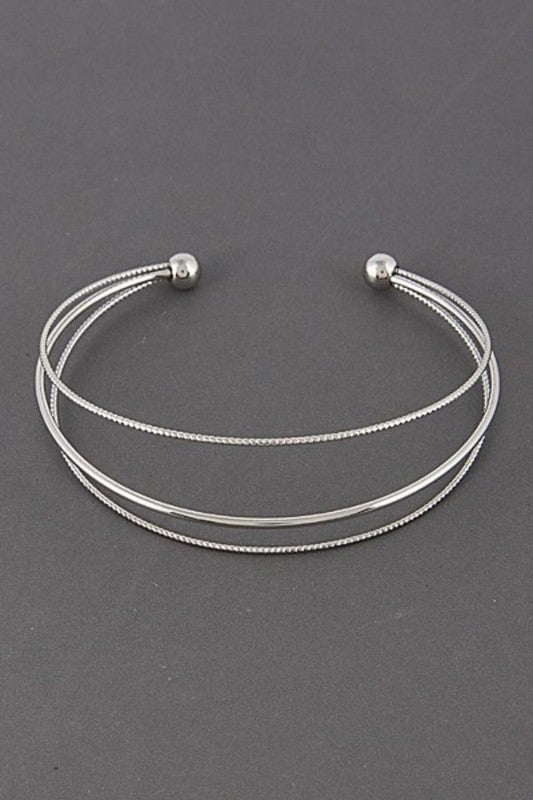 Open Thin Layered Bracelet