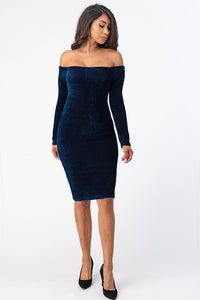 Now & Then Dress (Navy)