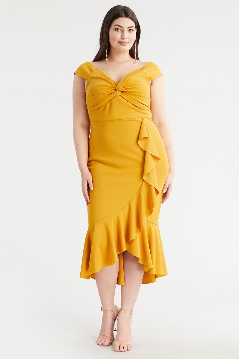 Endless Wonder Dress (Mustard)