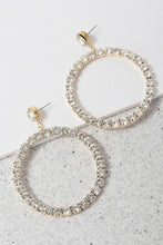 Load image into Gallery viewer, Stone Round Hoop Earring