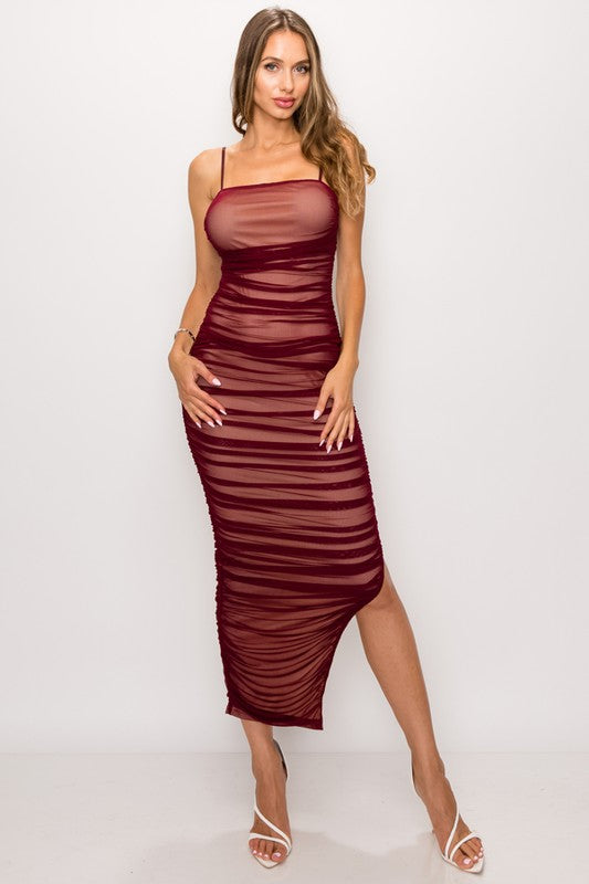 Nothing To Regret Dress (Wine)
