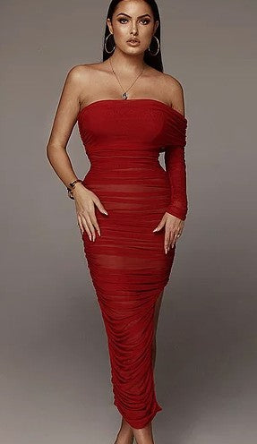 Melrose Place Dress (Red)
