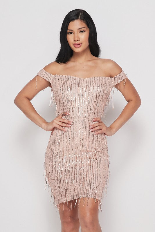 Evening To Remember Dress (Rose Gold)