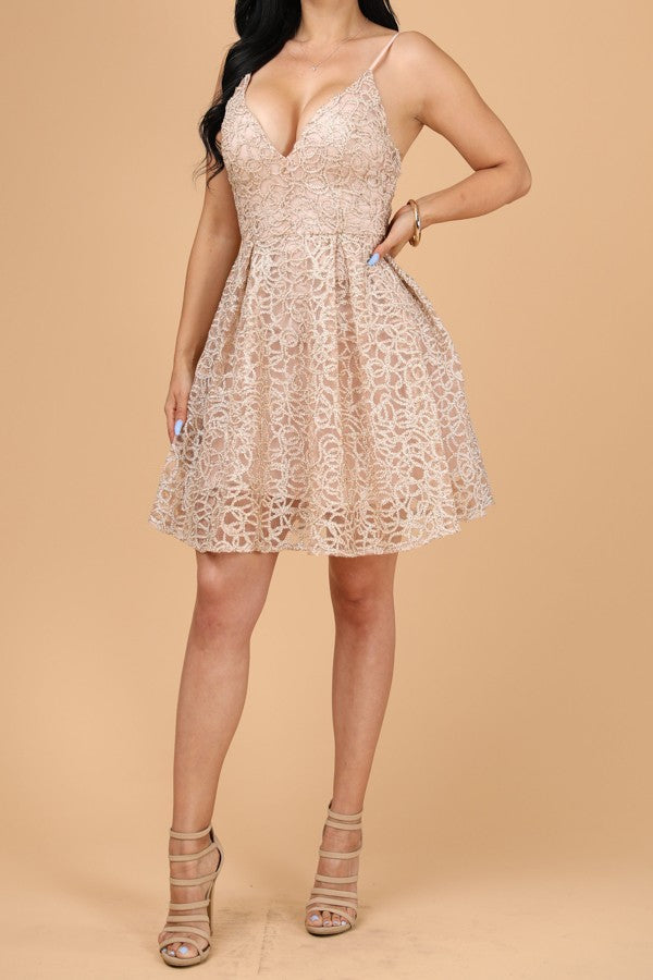 Princess Vibes Dress (Rose Gold)