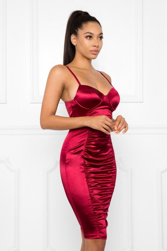 Lucky One Dress (Burgundy)