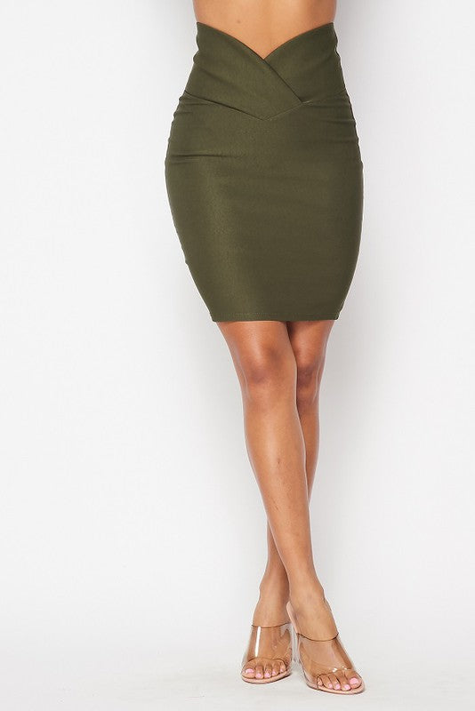 Talk To Me Skirt (Olive)