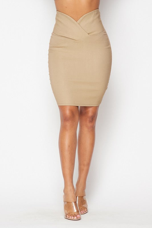 Talk To Me Skirt (Nude)