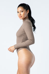 The Layla Bodysuit (Taupe)