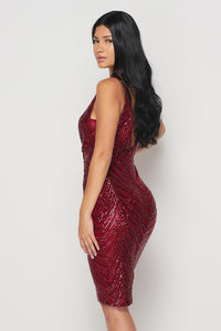 RSVP Party Dress (Burgundy)