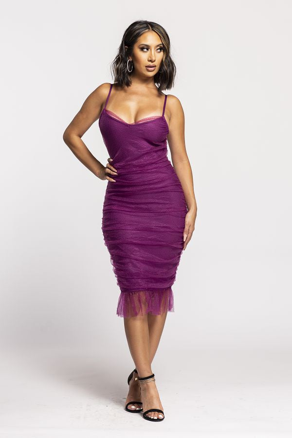 Dress Up Tonight Dress (Plum)