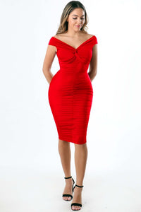 Weekend Date Dress (Red)