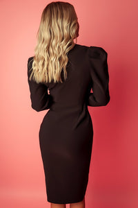 Feel the Attraction Dress (Black)