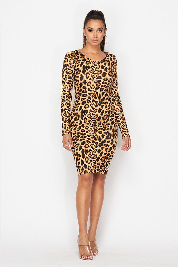 Promiscuous Girl Dress (Leopard)