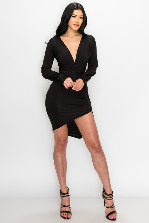 Don't Tempt Me Dress (Black)