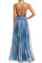 Load image into Gallery viewer, Queen Renee Dress (Blue/Multi)